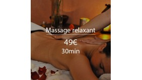 Massage relaxant - 25 minutes